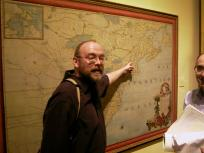 Matthew Edney pointing to the place of the 20th ICHC at the exhibition Treasures of Spanish Cartography in Madrid. Click for a photo report of the Madrid conference